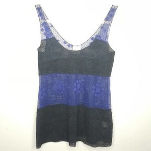 S Intimately Free People Lace Tank Top Sheer R